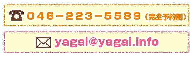 046-223-5589(完全予約制)yagai@yagai.info