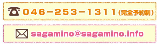 046-253-1311(完全予約制)sagamino@sagamino.info